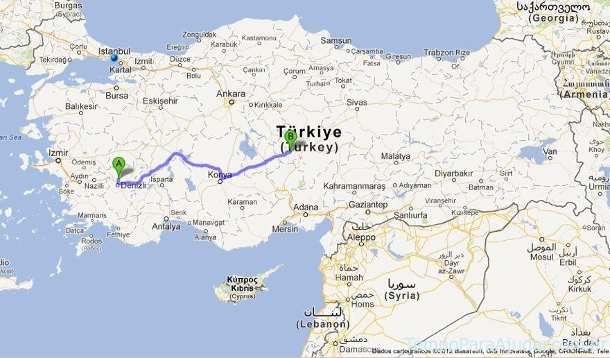 Caminho entre Pamukkale e Capadócia