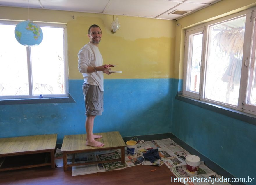 Trabalho voluntario orfanato no Nepal