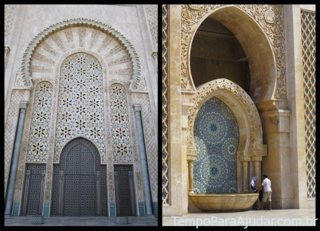Detalhes externos da mesquita