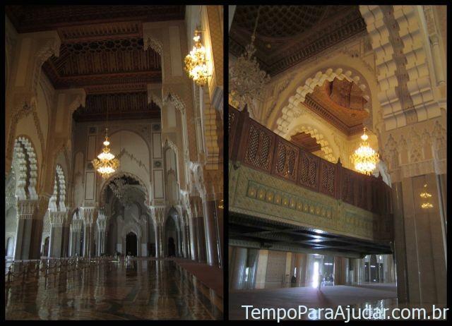 Sala de orações: masculina e feminina