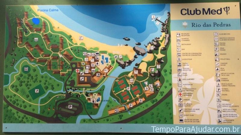 Mapa Club Med Rio das Pedras