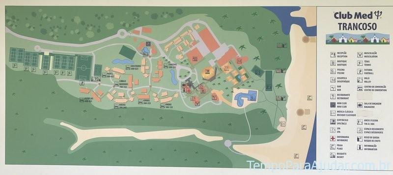 Mapa Club Med Trancoso