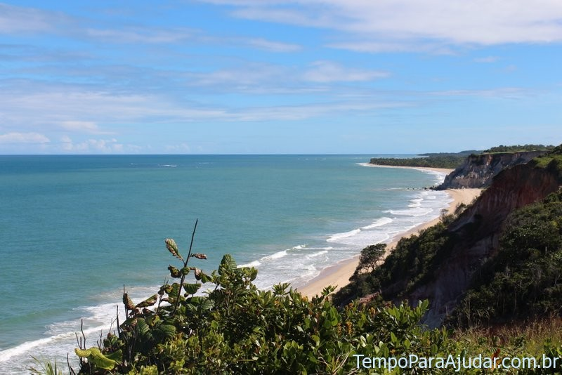 Vista para direita do mirante no Club Med Trancoso