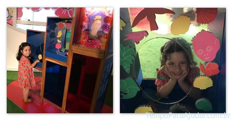 """Auto-retrato na Exposição """"Frida e eu"""" para crianças em São Paulo"""