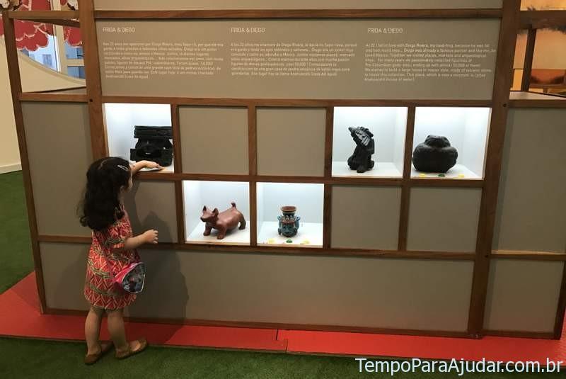 """Brincando na Exposição """"Frida e eu"""" para crianças em São Paulo"""