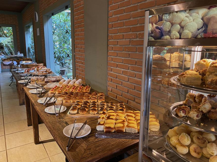 Café da manhã no Restaurante Alvorada