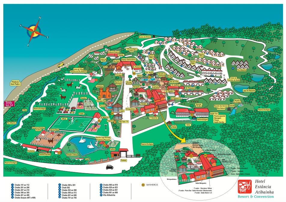 Mapa Hotel Fazenda Estância Atibainha